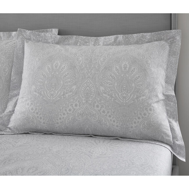 Gracie Oxford Pillowcase Pair - Grey