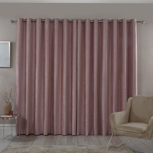 BLACKOUT & THERMAL TEXTURED ROSE 66x90 Curtain