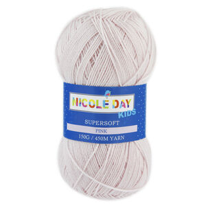 Nicole Day Kids Supersoft Pink Yarn