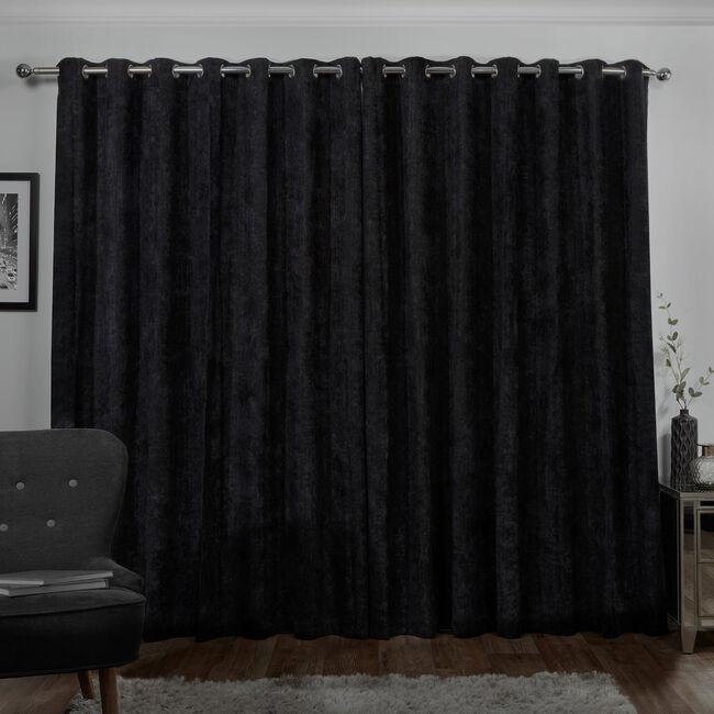 BLACKOUT & THERMAL HERRINGBONE BLACK 90x90 Curtain