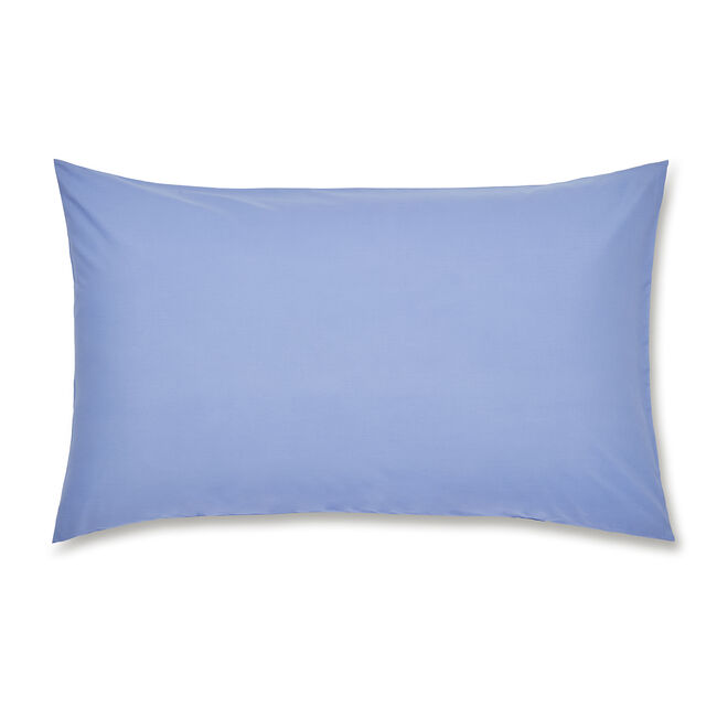 Luxury Percale Housewife Pillowcase Pair - Cornflower
