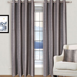 INTERLOCK BLACK/BRONZE 66x54 Curtain