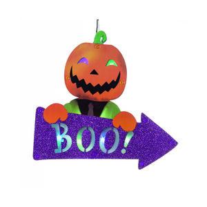 Halloween Pumpkin Boo LED sign 30cm