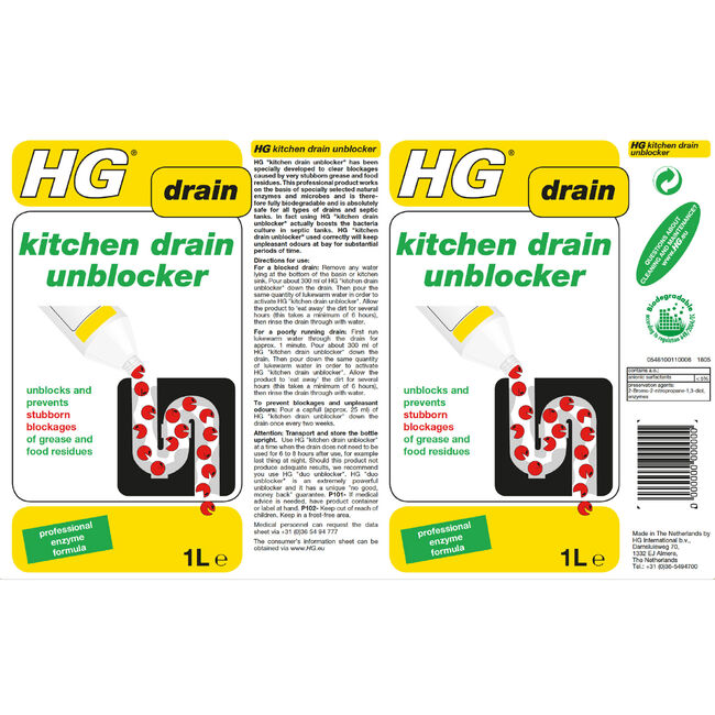 HG Kitchen Drain Unblocker 1L