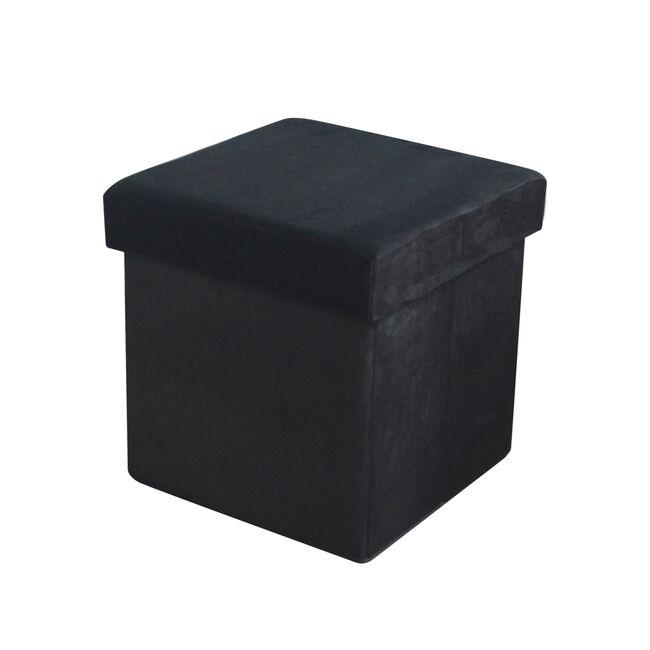 Deluxe Soft Folding Ottoman - Black
