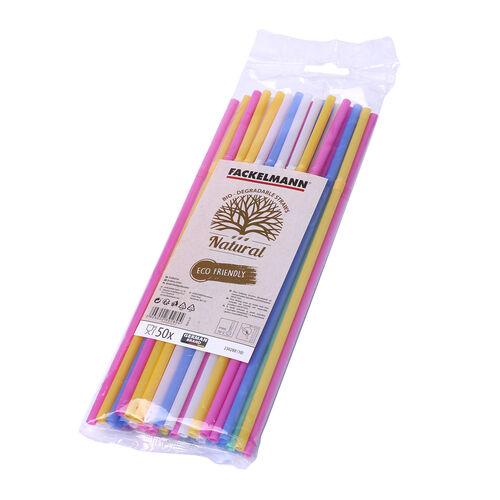 Fackelmann Bio-degradable Straws 50 Pack