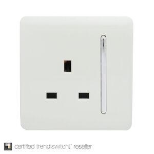 Trendi 13 Amp 1 Gang Switched Socket - White
