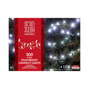 500 White LED Star Bright Compact Lights