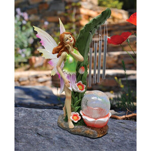 Solar Fairy Crackle Ball Windchime