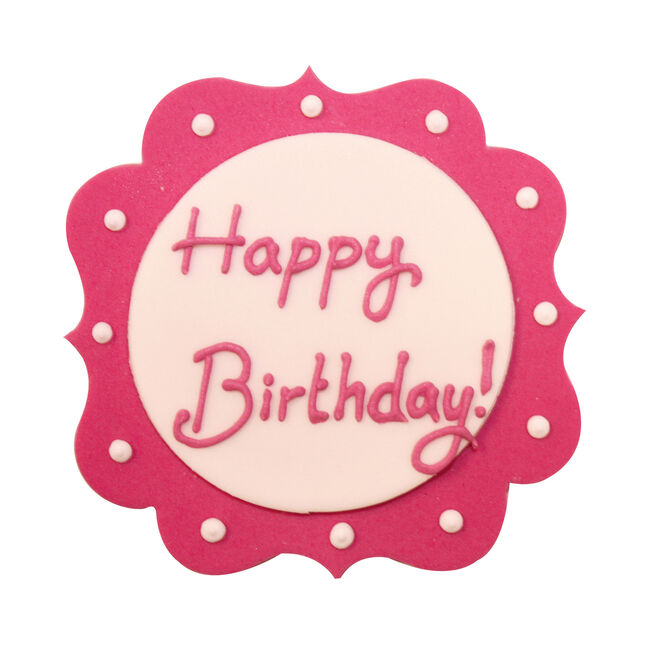 Happy Birthday Sugarcraft Cake Toppers