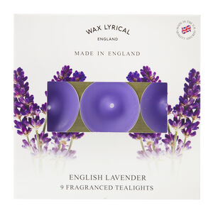English Lavender Box of 9 Tealights