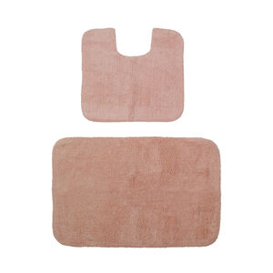 Cotton Plain Dye Peach Bathroom Set 2Pce