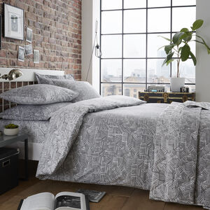 SINGLE DUVET COVER Brian Grey