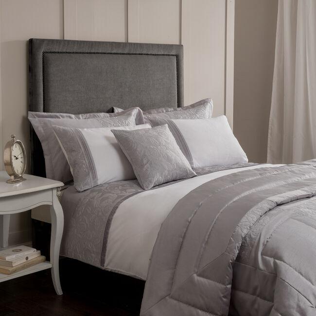 Glitter Rose Silver Pillowshams 50x75cm