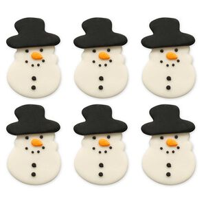 Festive Snowman Handmade ICing Cake Toppers