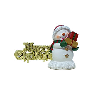 Sweet Snowman & Merry Christmas Cake Toppers