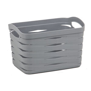 Ribbon Storage Basket 12L - Soft Grey