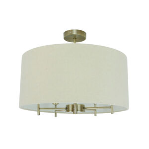 Ivory 5 Light Shaded Chandelier