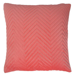 Triangle Stitch Cushion 58x58cm - Coral