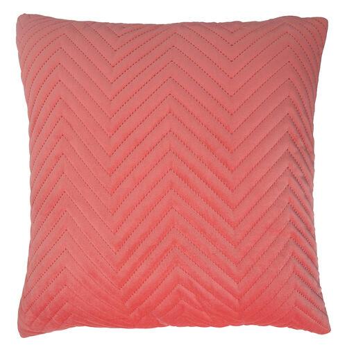 Triangle Stitch Cushion 58x58cm - Coral