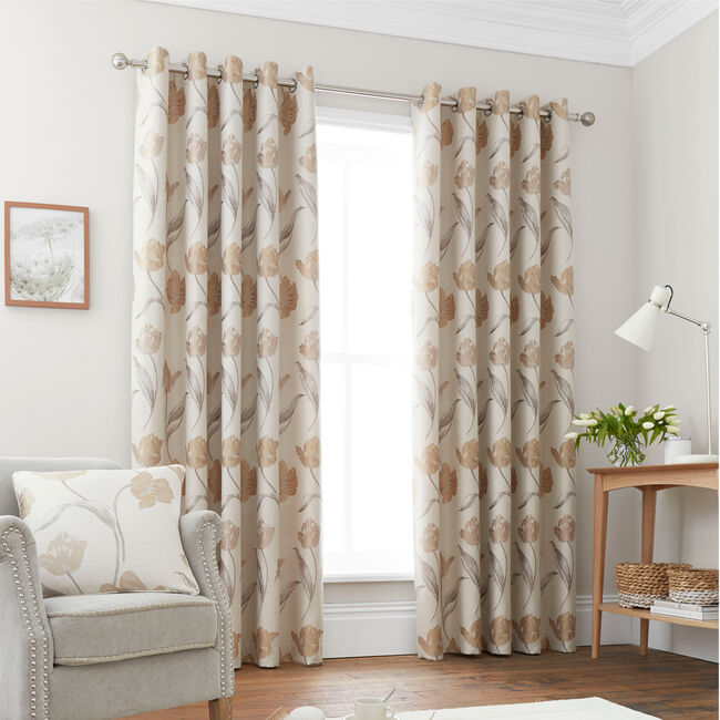 TULIP NATURAL 66x54 Curtain