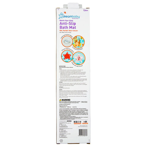 Anti-Slip Bath Mat with Heat Sensing Indicator