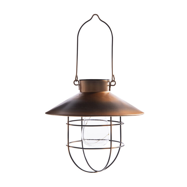 Copper Effect Hanging Solar Latern