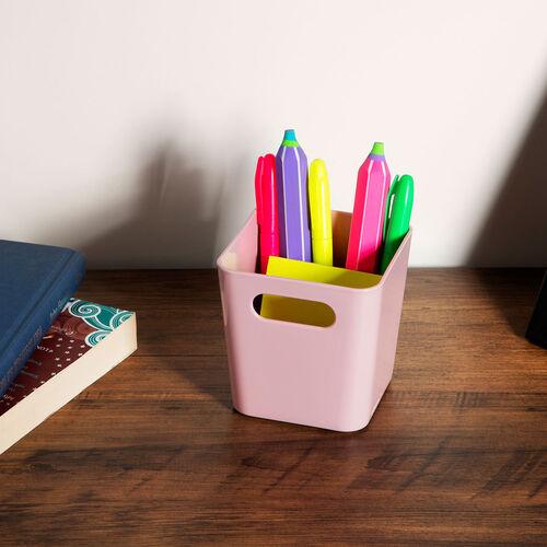 Studio Square Basket 720ml - Pink