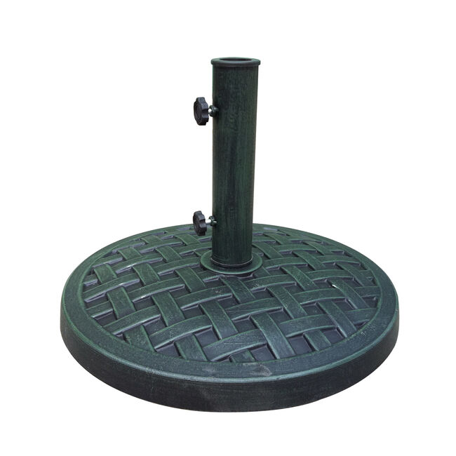Round Black Green Brushed Parasol Base