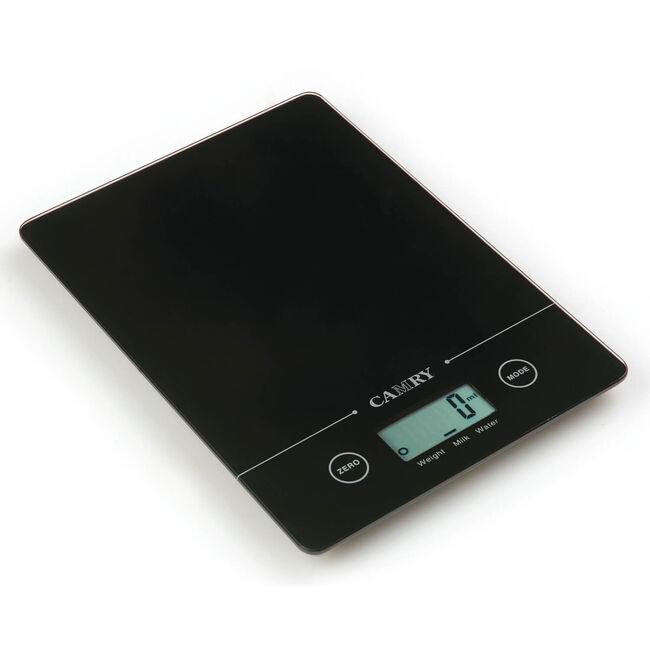 Camry Black Rectangular Electronic Kitchen Scale