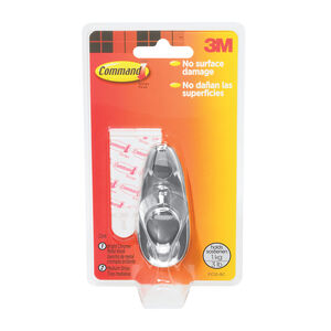 Command Chrome 1Pk Metal Hook Medium