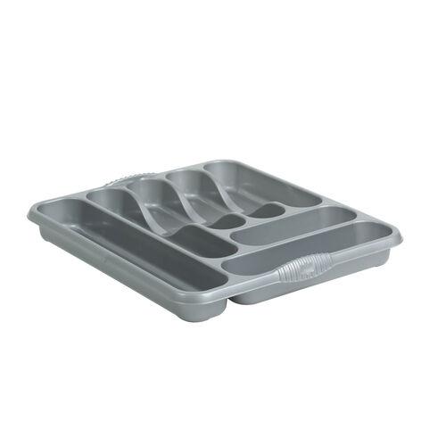 Large Cutlery Tray Grey