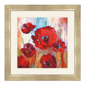 Ruby Poppies Framed 60cm x 60cm
