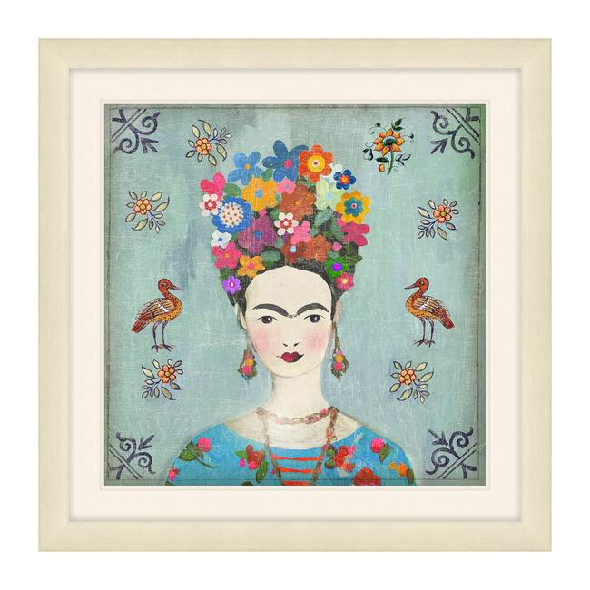 Frida Framed Canvas 37 x 37cm