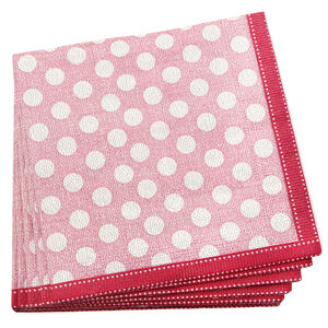 Dotty Pink Napkins 20 Pack
