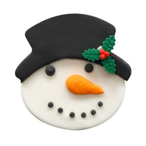 Snowman Face Handmade Icing Cake Topper