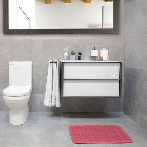 Memory Foam Bath Mat 40x60cm - Blush