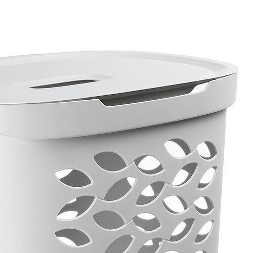 Ezy Storage Fleur Laundry Hamper 62.5L - Clay