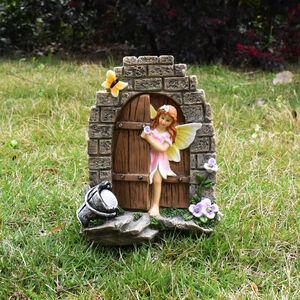 Fairy with Door Solar Light