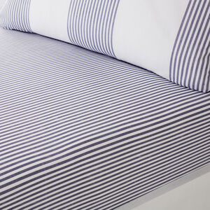 SMYTH BLUE Super King Fitted Sheet