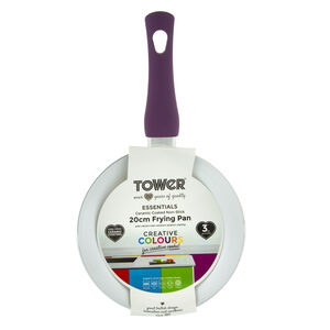 Tower Ceramic Plum Frying Pan 20cm