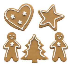 Gingerbread Heart & Star Cake Toppers