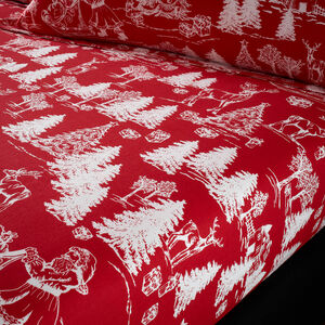 CHRISTMAS TOILE Single Fitted Sheet