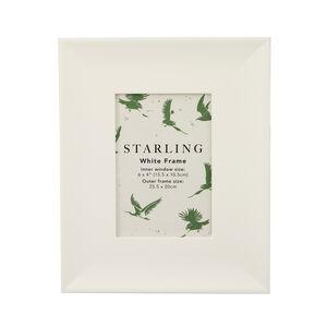4x6 Starling White Frame