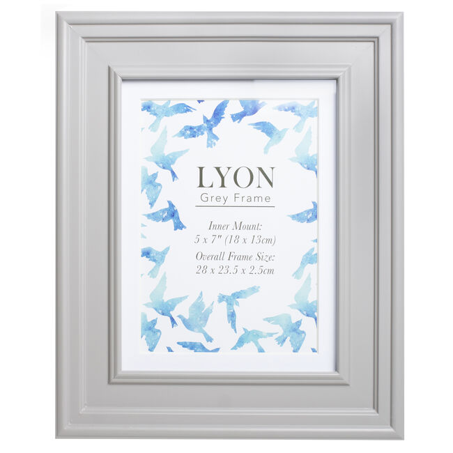 Lyon Grey Photo Frame 5x7""