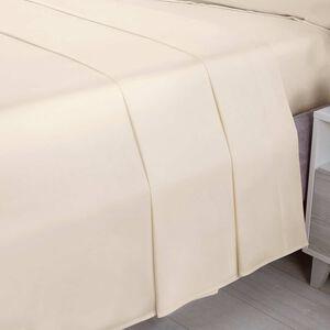 SINGLE FLAT SHEET 200 Threadcount Cotton Cream