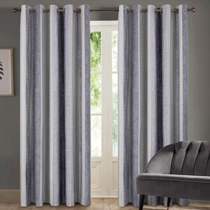 TWOHIG STRIPE CHARCOAL 66x90 Curtain