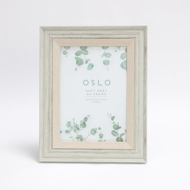"Oslo Soft Grey Photo Frame 8x12"" (A4)"