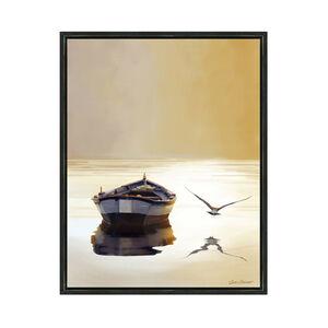 Lone Row Boat 55x70cm Framed