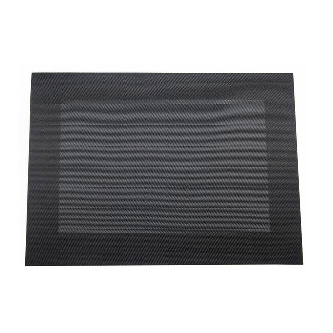Netted Oxford Placemat Black